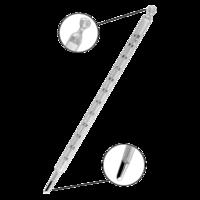 Termómetro de mercurio con escala de opal de -10 a 110ºC