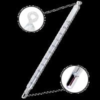 Termómetro de mercurio de máxima con escala de opal de 0 a 100ºC
