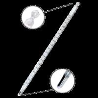 Termómetro de mercurio con escala de opal de 0 a 360ºC