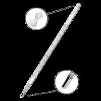 Termómetro de mercurio con escala de opal de 0 a 50ºC