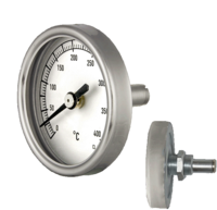 Door thermometers for ovens