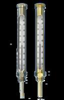 termómetros con escala de opal en latón o acero para sistemas de climatización
