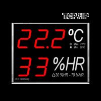 Anzeigegerät für Temperatur und Feuchtigkeit mit Kommunikationsschnittstelle