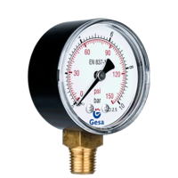 Pressure gauges with plastic case M0101
