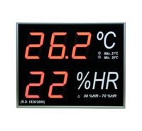 Big Digital Thermometer-Hygrometer with internal sensor for wall