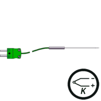 Termopar tipo k sonda de aguja en miniatura, de venta en Gesa