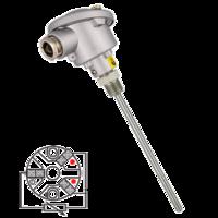 Sonda de temperatura PT100 (RTD) cabezal con conexión eléctrica sencilla y rosca