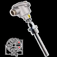 Sonda de temperatura PT100 (RTD) cabezal con conexión eléctrica sencilla