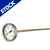 Thermometers for ovens with brass stem