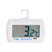 Digital thermometer for refrigerator with warning indicator and IP65
