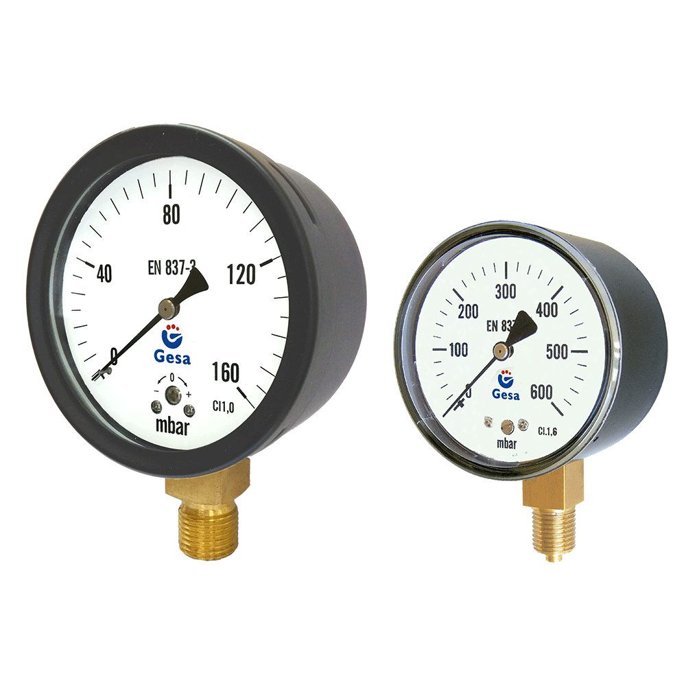Pressure gauges with steel case m0401 gesa gesa over - Fax caser bajas ...
