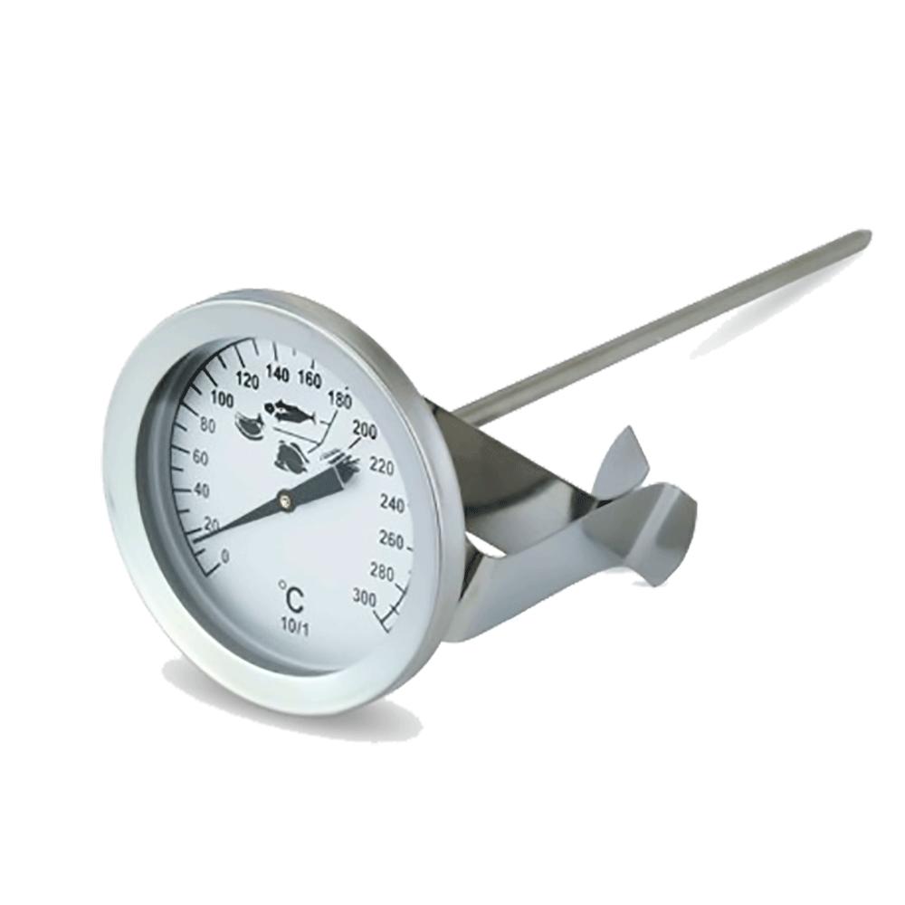 Term metro de aceite para freidoras en acero inoxidable for Termometro de cocina
