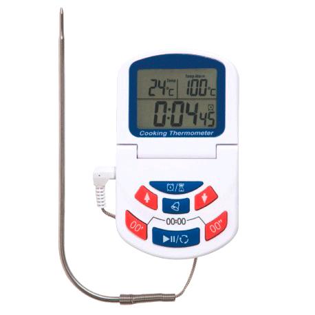 Term metro digital de cocina con alarma temporizador y for Termometro de cocina